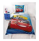 Disney Pixar Cars 3Race Ready Motif voiture enfants/Biber Parure de lit réversible Motif–2pièces en flanelle Taie d'oreiller 80x 80+ housse de couette 135x 200cm–100% coton