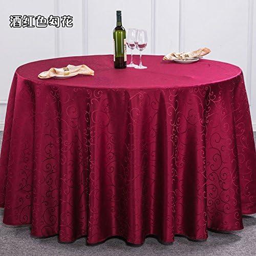 azulLSS Moderna Mesa rojoonda de poliéster Tejido de Tela manteles rectangulares Mantel de Boda Fiesta Hotel Restaurantes y Café Mantel,como Imagen,Ronda 180m