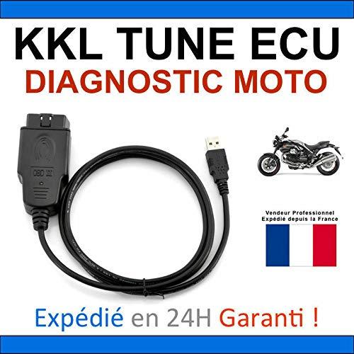 KKL Diagnosekoffer, speziell für Diagnose von Motorrädern – kompatibel mit Tune ECU Ducati Aprilia KTM Tunecu – Lesen / Löschen von Fehlern / Programmierung der Karten (nur KKL-Schnittstelle)