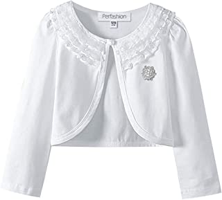 Perfashion Girls Lace Shrug Bolero Long Sleeve Cardigan Party Dress Cover Up