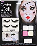 Fun World Women's Broken Doll Makeup Kit Halloween Face, Multi, Standard