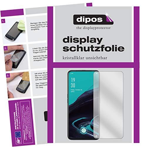 dipos I Schutzfolie kompatibel mit Oppo Reno2 Z Bildschirmschutz-Folie klar (Kleiner als das Glas, da Dieses gewölbt ist)
