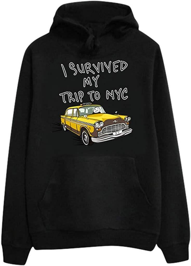 Girls' Hoodie, Misaky Pullover Sweatshirt Casual Letter Car Print Long Sleeve Pocket Hooded Blouse Tops