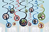 amscan Avengers Hanging Swirl Decorations- 12 pcs., Red