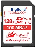 BigBuild Technology Tarjeta de memoria ultrarrápida U3 de 128 GB para cámara Canon EOS 250D, Canon EOS 90D, clase 10 SDXC