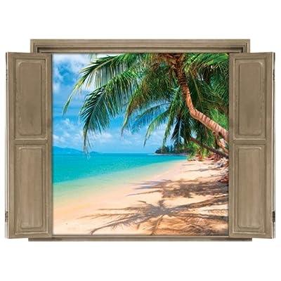 Walls 360 Peel & Stick Wall Decals Window Views Beach