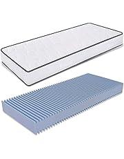 Ailime matras van polyurethaanschuim, mijtdicht en ademend, voor één persoon, 80 x 190 cm, 12 cm dik
