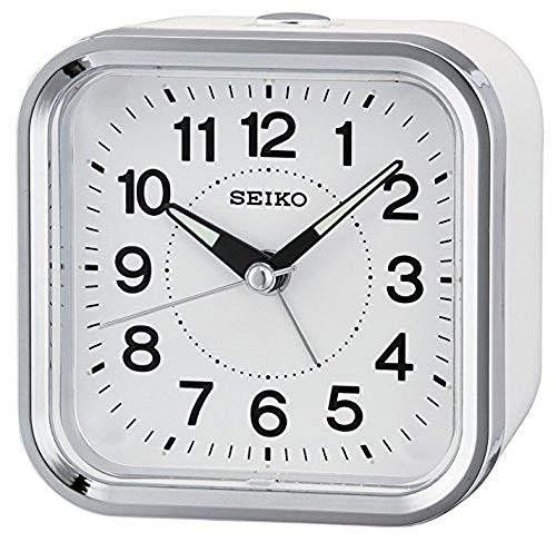 Seiko Alarm Clock Analogue Unisex White QHE130W