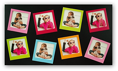 Zep S.r.l Teulada Multi Aperture Black Photo Frame for 8 4x4 Photos