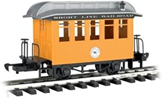 Bachmann Industries Li'l Big Haulers Coach G-Scale Short Line Railroad with Yellow/Silver Roof, Large