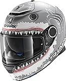 Shark Casco Integrale Spartan Replica Lorenzo, opaco grigio/bianco antracite, taglia XXL