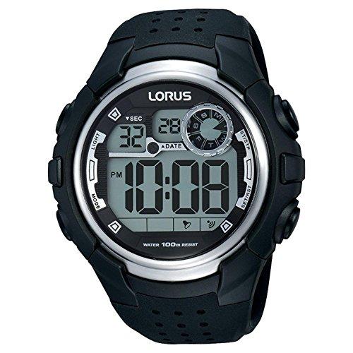 Lorus Digital Man Reloj para Hombre Digital de Cuarzo con Brazalete de Silicona R2385KX9