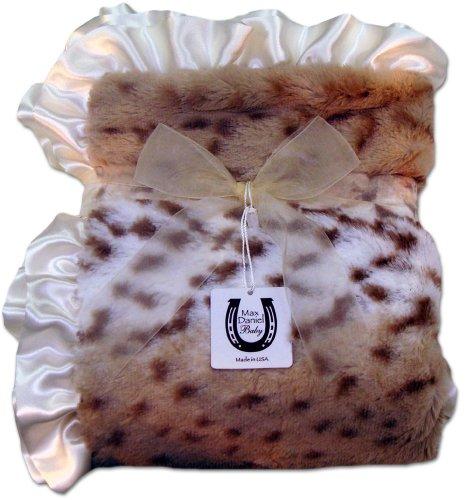 Max Daniel Couverture pour bébé imprimé animal (léopard des neiges)