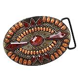 perfeclan Hebilla de Cinturón de Abalorios Turquesa Estilo Vaquero Occidental Accesorios de Manualidades - #1, tal como se describe