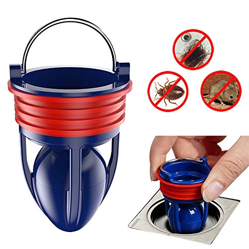 Drain Backflow Preventer,Floor Drain Backflow Preventer for Pipes Tubes In Bathroom,Kitchen,Sink and Floor Water Drainage(Adjustable Size for38-45mm and 65mm Depth)