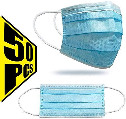 JXYCXKZ Verwijderbare Maskers Volwassen Dust-Proof Anti-Fog Allergie met drie lagen 50 stuks.