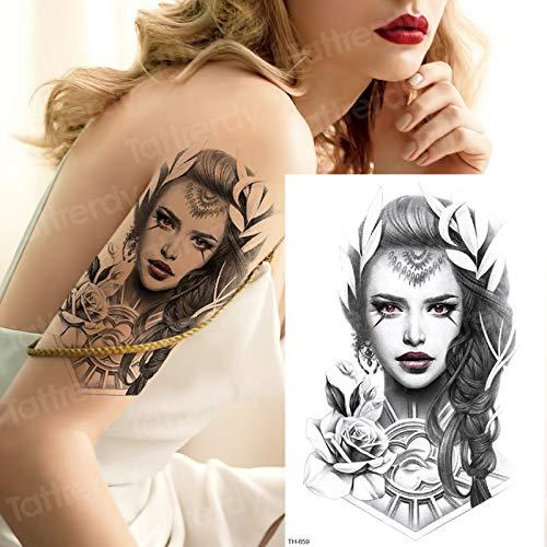 tzxdbh Chica Tatuaje Temporal bocetos diseños de Tatuajes Tatoo ...