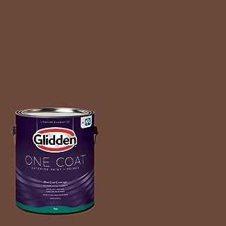 Glidden Exterior Paint + Primer: Brown/Bird House Brown, One Coat, Flat, 1-Gallon