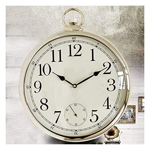 Reloj de bolsillo elegante clásico.Reloj de bolsillo y cadena para hombres Reloj de pared europeo de cronómetro electrónico de cuarzo como un anciano regalo aniversario día Pájaro Pájaro Peaky Globers