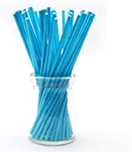 100/Pack 6-Inch Colored Lollipop Sticks 5 Colors for Cake Pops Apple Candy