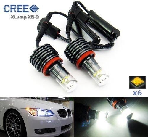 LEDIN BMW H8 CREE LED Angel Eye Ring Marker Light 30W 1 3 5 X Series E90 E92 E60 X5 X6