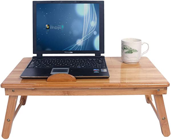 Laptop Desk For Bed Computer Desk With Drawers For Bed Breakfast Tray Table With Folding Legs For Bed Stand Up Desk For Laptop Adjustable Bamboo Laptop Desk Tray For Bed Hospital Sick Bed Table