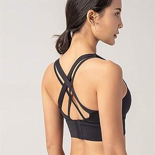Sports Bra,Sports Underwear Women's Running Yoga Vest Shock-Resistant Push Up Stereotypes Fitness Bra Workout Bra zhengpin...