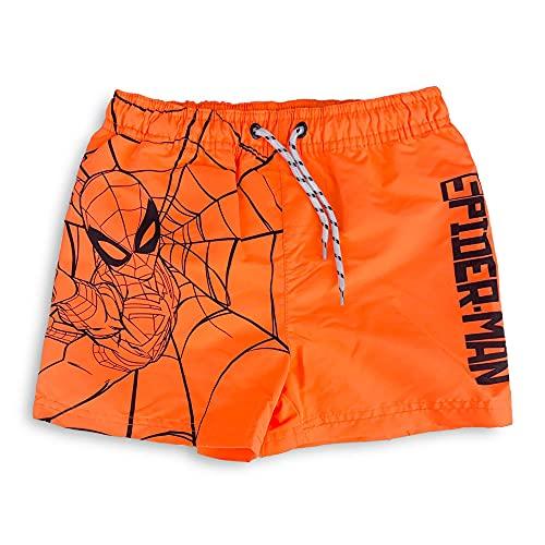 Pantaloncini Mare Spiderman Avengers Costume da Bagno Bambino Estate Prodotto Ufficiale (Arancione 1883, 6 Anni, 6_Years)