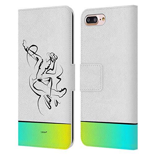Head Case Designs Licenciado Oficialmente Zelko Radic Bfvrp Dance Surtido Carcasa de Cuero Tipo Libro Compatible con Apple iPhone 7 Plus/iPhone 8 Plus