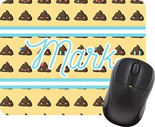 Poop Emoji Rectangular Mouse Pad (Personalized)