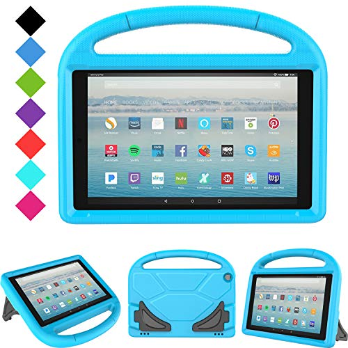 All-New Fire HD 10 2019/2017 Tablet Case - TIRIN Light Weight Shock Proof Handle Stand Kids Friendly Case for Fire HD 10.1 Inch Tablet (9th/7th Generation, 2019/2017 Release), Blue