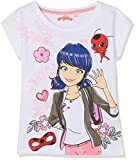 Miraculous 6185 T-Shirt, Blanc, (Taille Fabricant:4 Ans) Fille