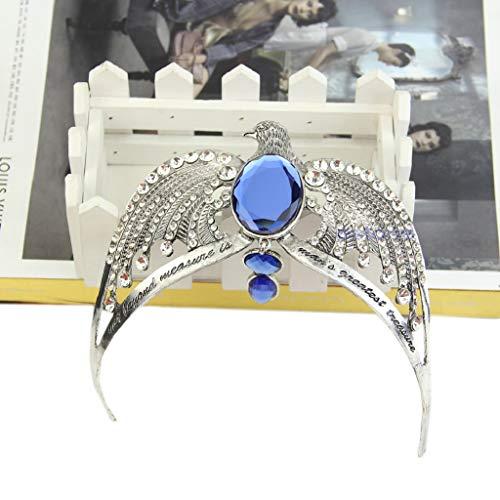 xllLU WEDFTGF - Diadema con corona de cristal Horcrux para cosplay, cadena de metal para hombre, soporte de collar de metal para mujer, collares de metal grabados para mujer, tiaras de moda