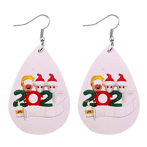 Janly Clearance Sale Women Earrings , 2020 Face Cover Snowman Toilet Paper Earrings Christmas Leather Earrings , Jewelry Sets , Valentine's Day (B)