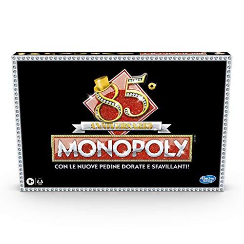 Monopoly – 85° Aniversario (Juego en Caja Hasbro Gaming, versión en Italiano).