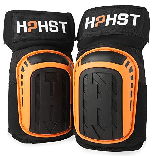 HPHST - Rodilleras profesionales para trabajar - Rodilleras ampliadas y largas con almohadilla de silicona y correas ajustables para trabajar en el jardín y en el suelo