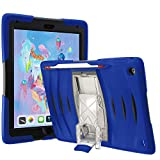 UZBL UBL iPad 10.2 Case 2020 iPad 8th Generation Case / 2019 iPad 7th Generation Case, Shockwave v1 Heavy Duty Rugged Case with Pencil Holder, Screen Protector and Removable Kickstand, Blue