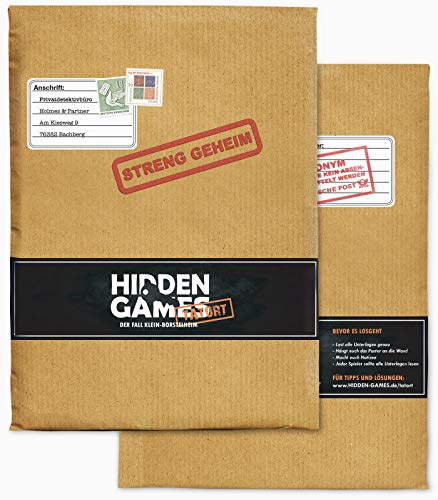 Hidden Games Tatort Krimispiel, Escape Room Spiel