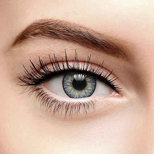 Tri Ton Natürliche Farbige Tageslinsen Ohne Stärke (Grau)