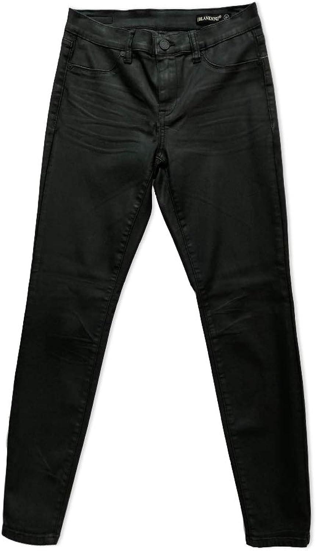[BLANKNYC] Blank NYC Women's The Mercer Black ManEater Coated Skinny Jeans
