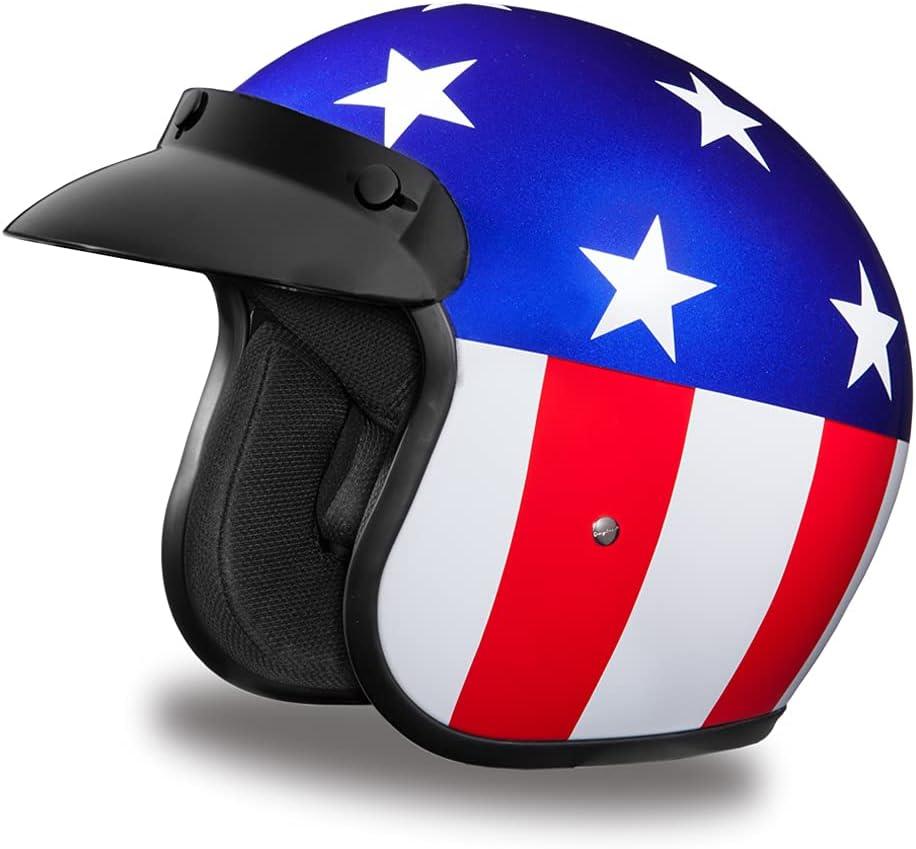 Daytona Helmets 3 Portland Mall Limited time cheap sale 4 Shell Open Helmet DOT Face – Motorcycle