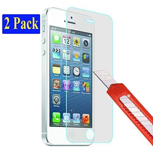 plt24 kogelvrij glas beschermfolie beschermglas gehard glas 9H compatibel met iPhone 5 5C 5S SE screen protector glas kogelvrij glas screen protector film 2x doorzichtig