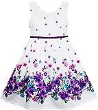 Sunny Fashion Robe Fille Élégant Princesse Épanouissement Fleur dans Vent 4 Ans