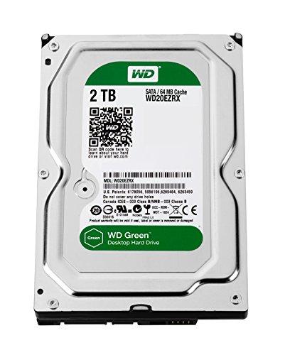 Western Digital WD20EZRX 2TB interne Festplatte (8,9 cm (3,5 Zoll), 5400rpm, SATA 6Gb/s, 64MB Cache) grün oder blau- Auswahl ist nicht möglich