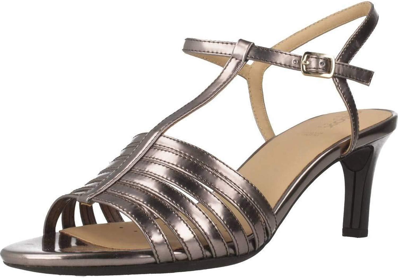 Geox Damen Sandalen, Farbe Farbe Grau, Marke, Modell Damen Sandalen D CELEINA Grau  kostenlosen Versand für alle Bestellungen