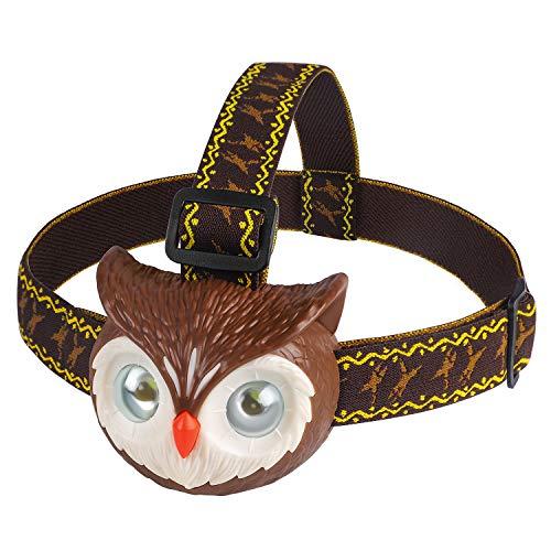 DX DA XIN DAXIN Eule LED Stirnlampe für Kinder, Eule Spielzeug LED Kopflampe mit Roar Sound, Scheinwerfer mit 3 Beleuchtungsmodi, Taschenlampe für Lesen Laufen Camping Wandern Angeln