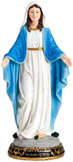 Bits and Pieces- 16 Inches Tall - Our Lady of Grace Sculpture for Your Garden, Lawn or Patio - Durable Weather Resistant and Hand-Painted Polyresin Statue