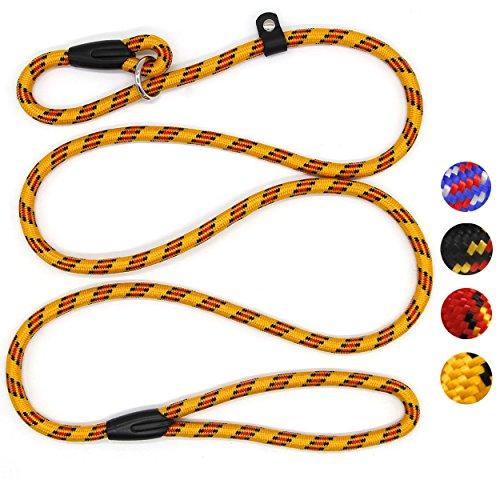 Coolrunner Dog Rope Leash, 5 FT Pet Slip Lead, Dog Training Leash, Standard Adjustable Pet Nylon...