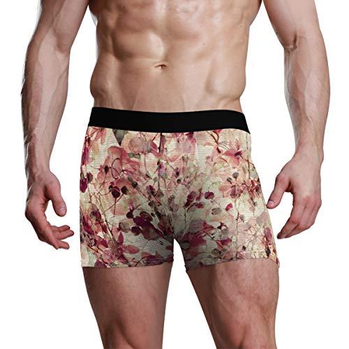 LENNEL Ropa Interior Masculina de Flores Antiguas Estiramiento único Transpirable Soft Boxer Brief S Boxer Brief Acogedor