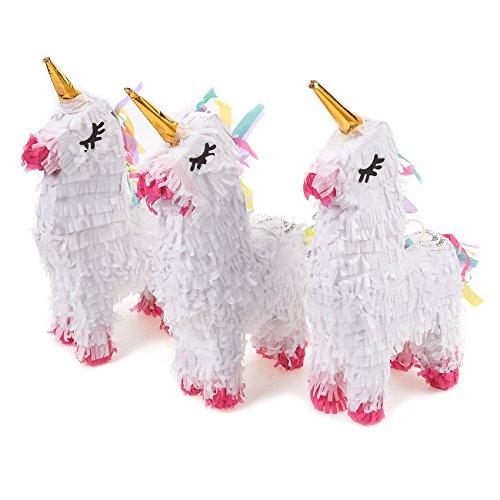 Einhorn-Partyzubehör, Mini-Piñata (13 x 22 x 5,3 cm, 3er-Pack)